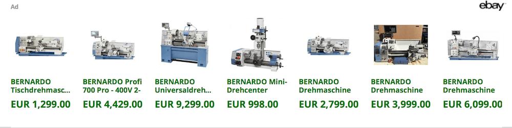 Gebrauchte Bernardo Drehmaschine auf Ebay kaufen